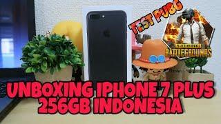 UNBOXING IPHONE 7 PLUS 256GB INDONESIA // TEST MAIN PUBG