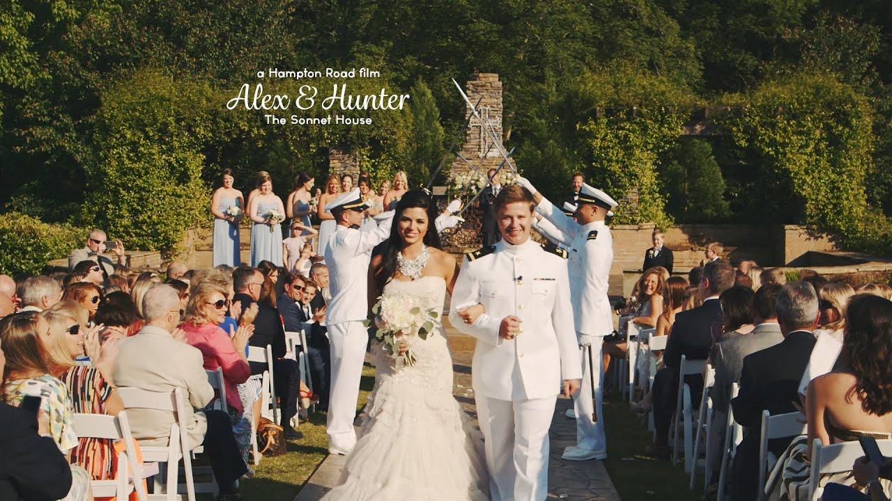 High School Sweetheart Military Wedding // Alex & Hunter - YouTube