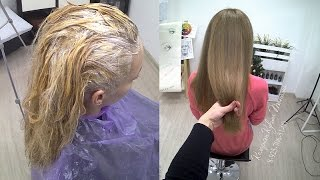видео Как покрасить мелированные волосы