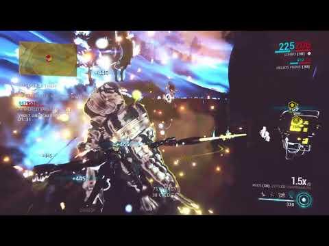 Warframe PoE gameplay Limbo solo defending Random bounty Easy PS4