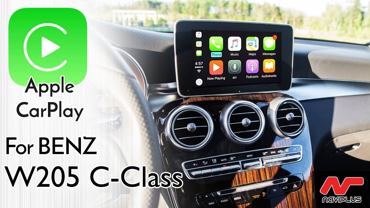 Apple CarPlay with Factory Audio control for Mercedes Benz W205 C-Class -  NTG5 Audio20 integration