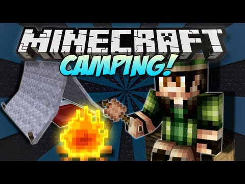 Minecraft   CAMPING! (Tents, Fires & Marshmallows!)   Mod Showcase [1.4.7]