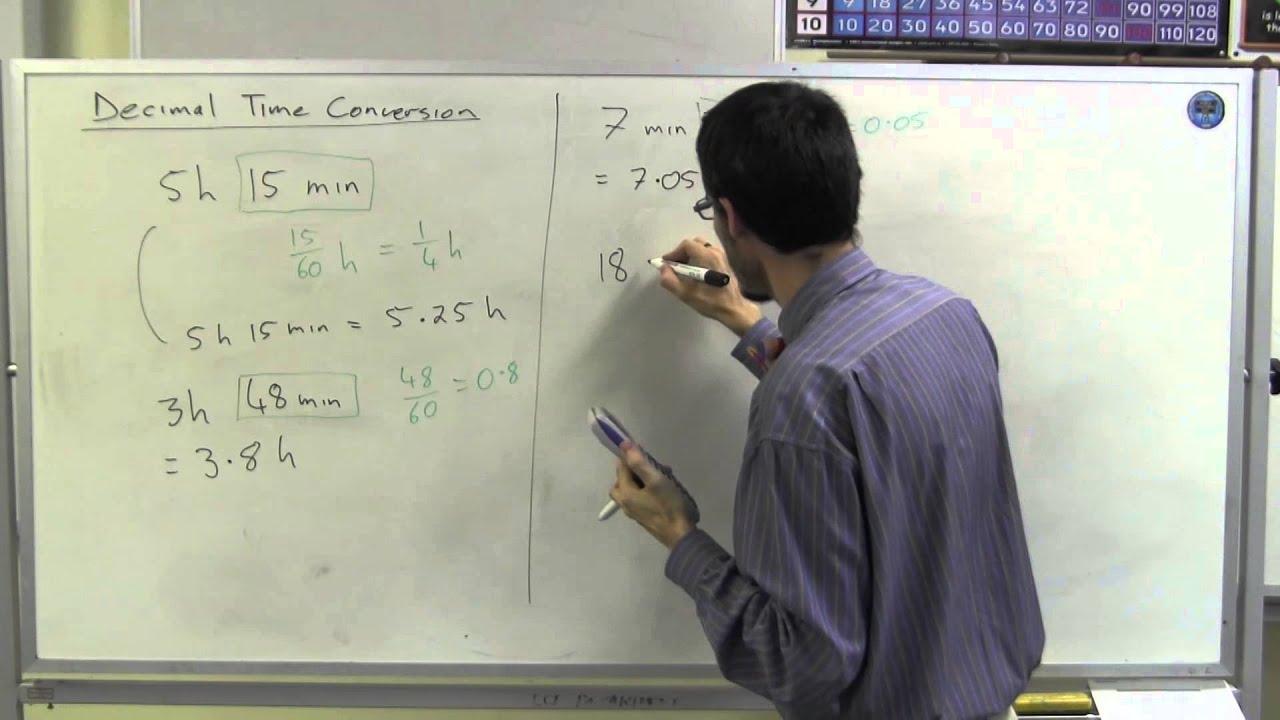Decimal time conversion youtube decimal time conversion nvjuhfo Gallery