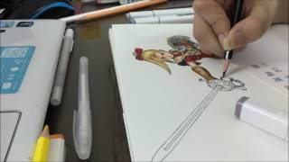Aurora Dragon Quest Heroes drawing
