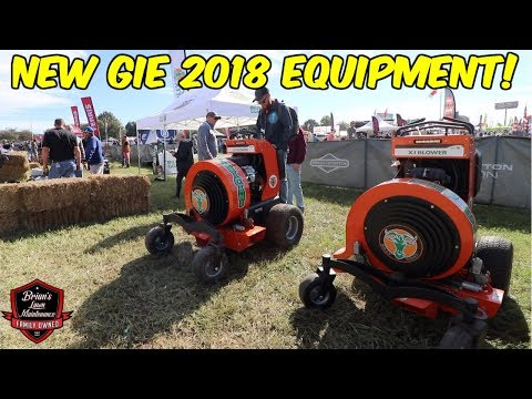CRAZY & NEW Products From GIE 2018! ► KUBOTA Stand On, New BOBCAT Mowers, Mulch Mate!