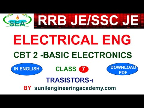 RRB JE CBT 2 ELECTRICAL CLASSES IN ENGLISH /SSC JE