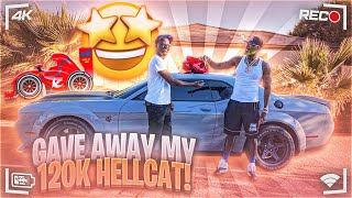 GIVING MY BROTHER A HELLCAT REDEYE SUPER STOCK FOR HIS BIRTHDAY!!!