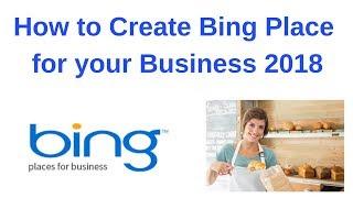 كيفية creater بنج مكان للأعمال التجارية الخاصة بك 2018