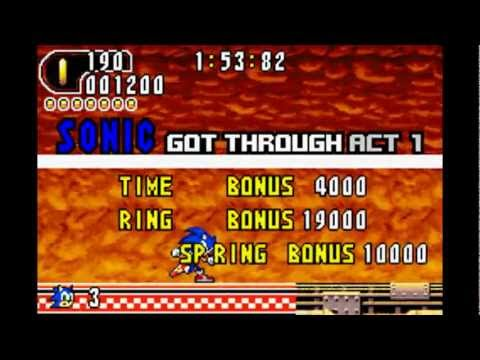 Sonic Advance 2 playthrough
