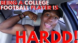 What's it like being a college football player?