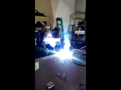 Two handed welder from The A Team Ship Repair