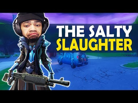 THE SALTY SLAUGHTER | HIGH KILL FUNNY GAME - (Fortnite Battle Royale)