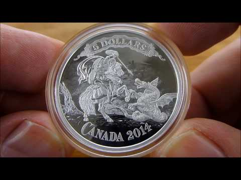 Exquisite Silver Coin! - St. George Slaying the Dragon