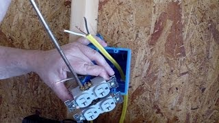 Installing an Electrical Outlet in new construction