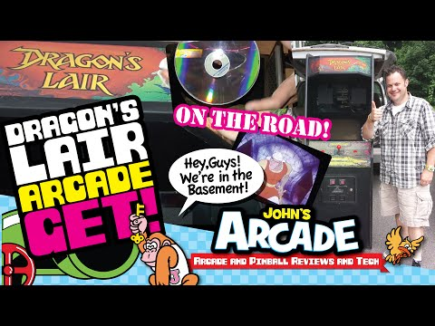 John gets a Dragon's Lair Arcade Game - Working original LaserDisc Player! - Cinematronics 1983