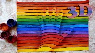 Как научиться рисовать: УРОК 3. Простой 3-D рисунок(Подписывайтесь на мой канал, если интересуетесь искусством! Буду благодарна за лайки и комменты) Music: http://www...., 2015-07-27T12:32:29.000Z)
