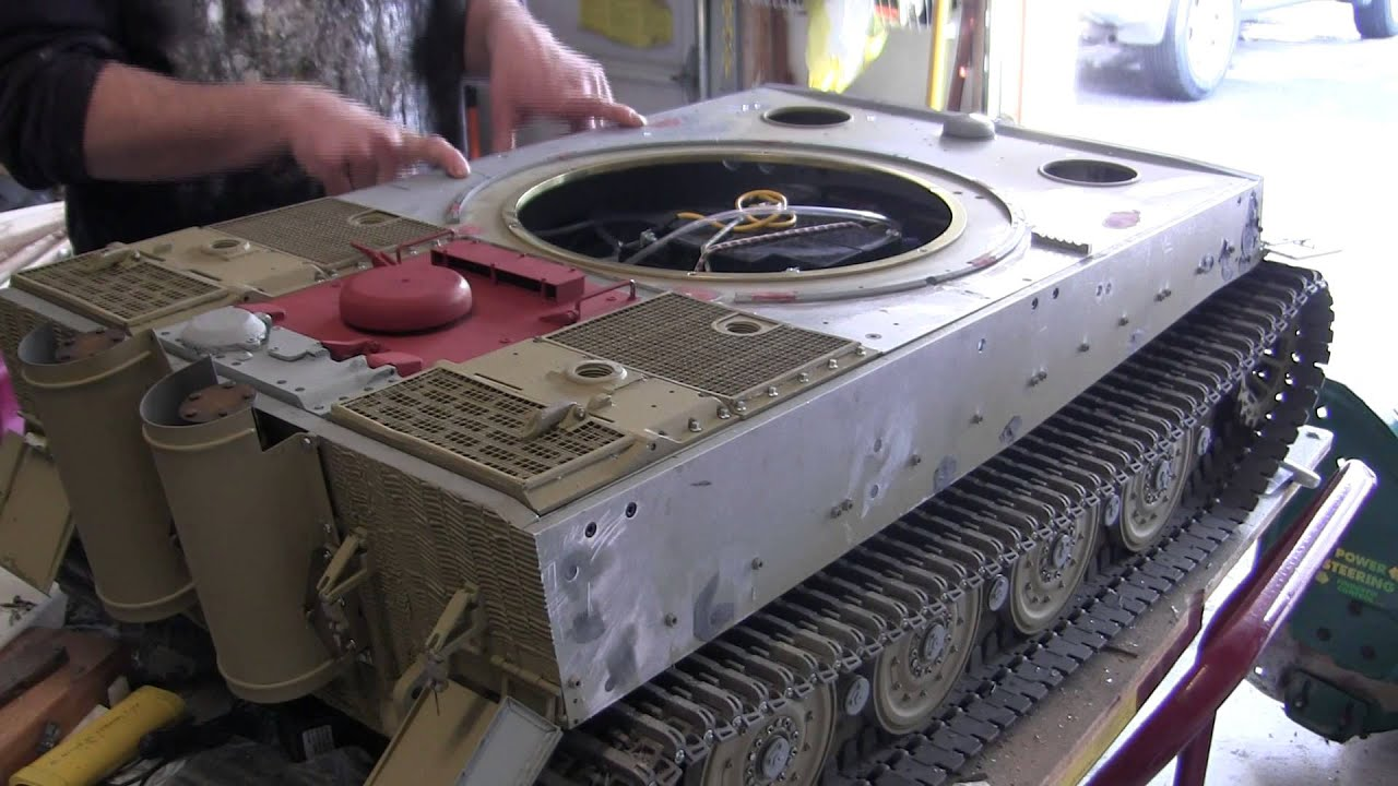 Armortek Late Tiger I Project video #13 part 2 of 2 (top deck / engine  hatch)