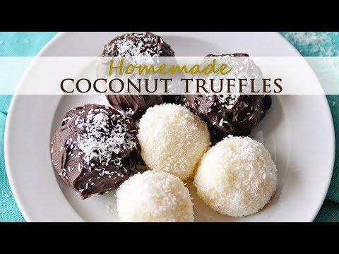 Homemade Chocolate and Coconut Truffles Easy Recipe