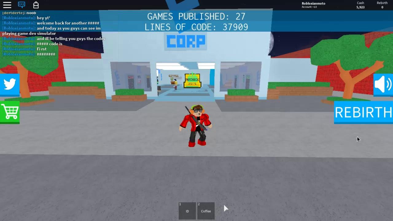 Codes For Game Dev Simulator Youtube