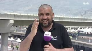 ضربة شمس تلخبط مراسل العربية في الحج