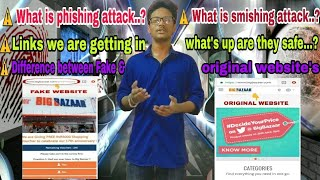 What is phishing & smishing attacks || difference between Fake and original website's || fake links