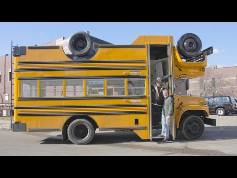 Topsy Turvy Bus | 'The Mutant Brothers' Build Wacky Upside-Down Vehicle