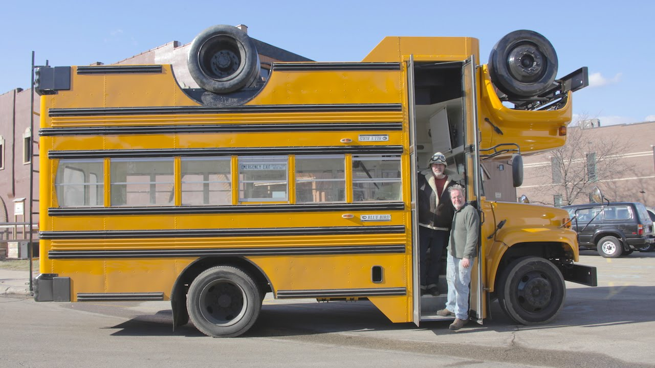 topsy turvy bus the mutant brothers build wacky upside down vehicle youtube. Black Bedroom Furniture Sets. Home Design Ideas