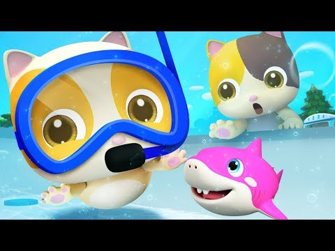 Five Little Babies Swimming Song | Nursery Rhymes | Kids Songs | Kids Cartoon | BabyBus