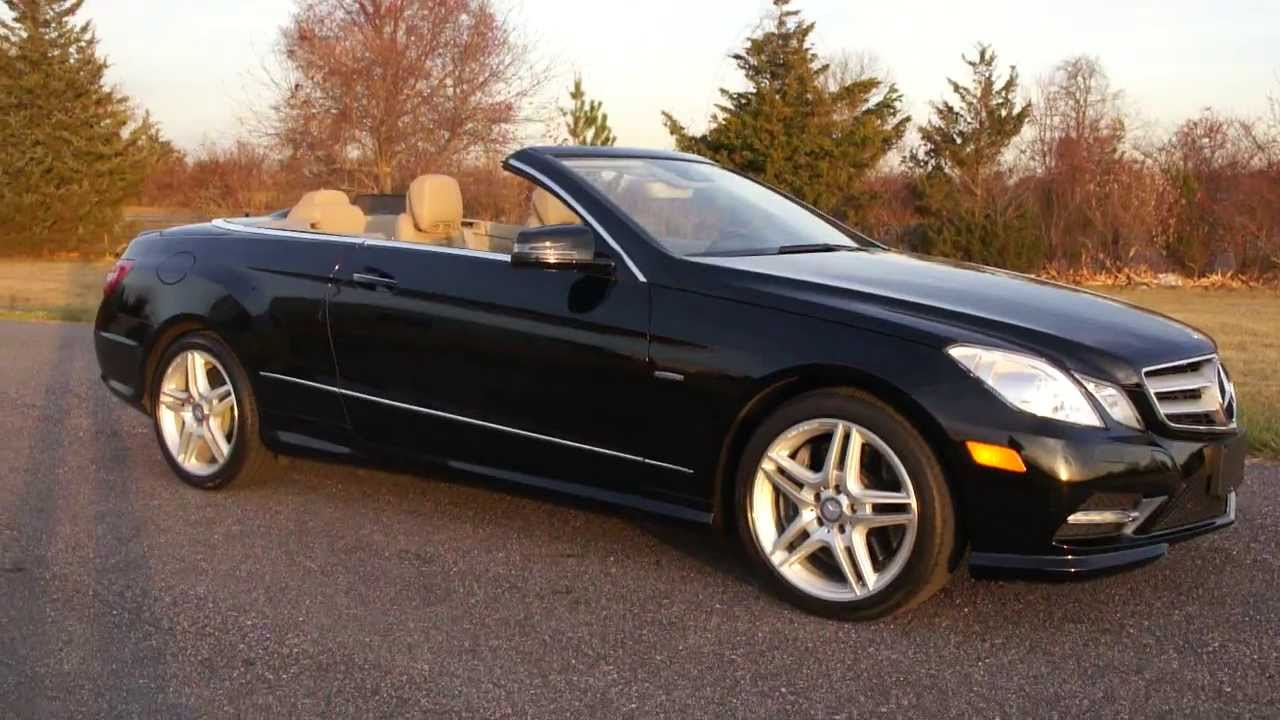 2012 mercedes benz e550 convertible for sale beautiful condition salvage title youtube. Black Bedroom Furniture Sets. Home Design Ideas