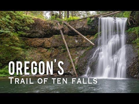Trail Of Ten Falls In Oregon's Silver Falls State Park