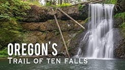Trail of Ten Falls in Oregon's Silver Falls State Park