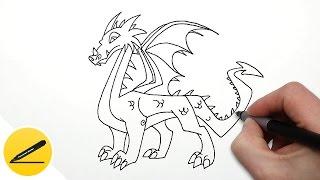 Как Нарисовать Дракона ★ Рисуем Дракона поэтапно(Как рисовать дракона. В этом видео я показываю как нарисовать дракона легко и просто. Я рисую дракона поэтап..., 2016-10-15T14:47:51.000Z)