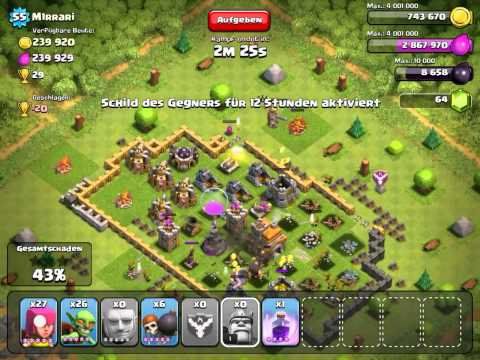 Clash Of Clans Almost 850 k Resources raid