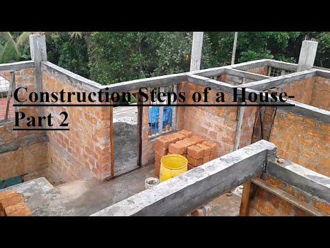 Construction Steps of a house in India - 2