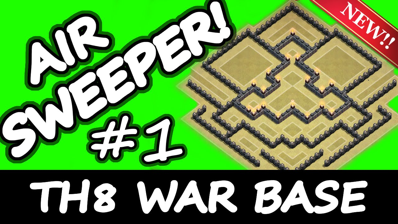 Clash of clans new th8 clan war base air sweeper defence update