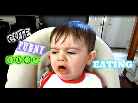 Cute Funny Baby Eating For The First Time Video Compilation