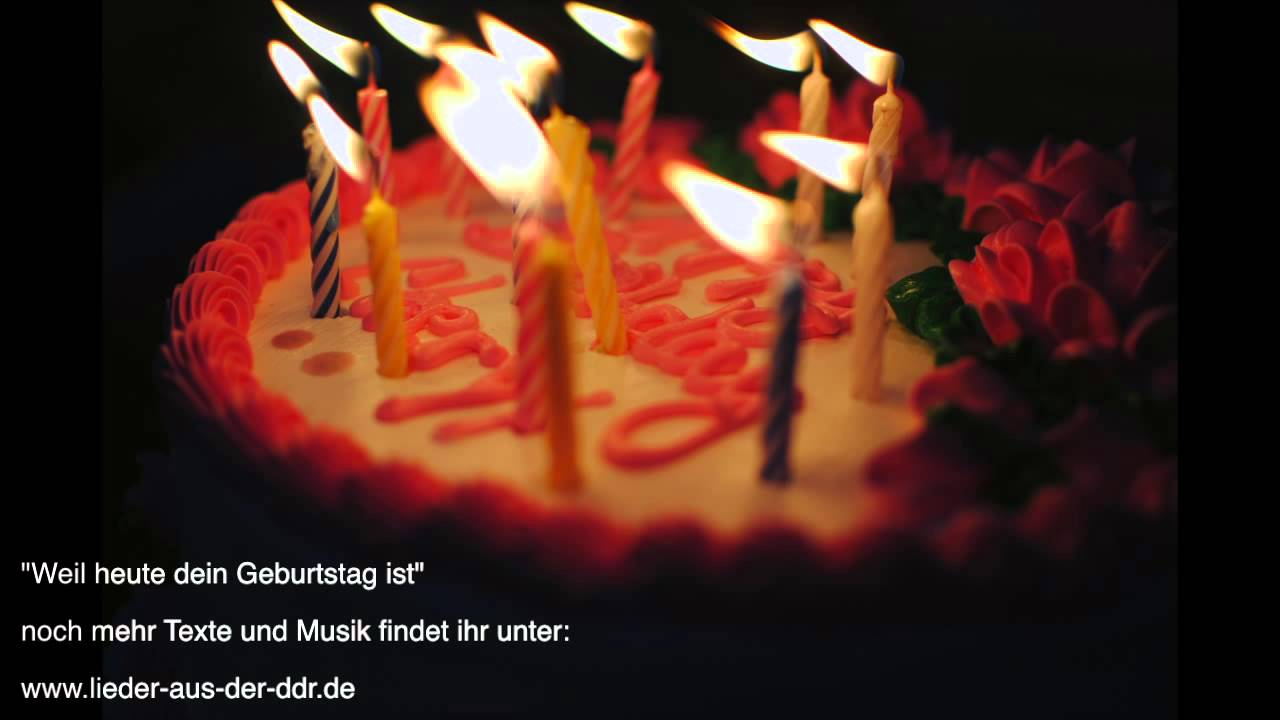 Weil Heute Dein Geburtstag Ist Musik Zum Mitsingen Youtube