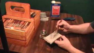 Home-made wax trailing tool lets sculptors draw with wax. Cost? $5