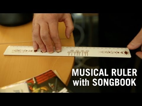 Musical Ruler with Songbook from ThinkGeek