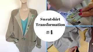 Sweatshirt Transformation #4,Sweatshirt to Jacket, DiY Fashion