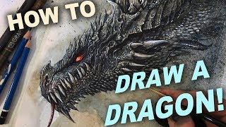 HOW TO DRAW A DRAGON:  MIXED MEDIA TUTORIAL