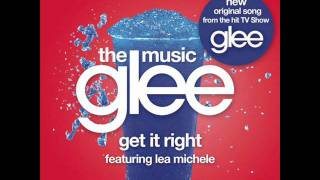 glee - get it right karaoke instrumental with lyrics in descrep. ( without vocals )