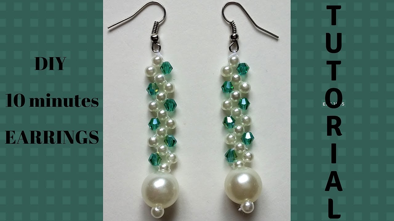 How To Make Earrings Diy Elegant Earrings Beaded