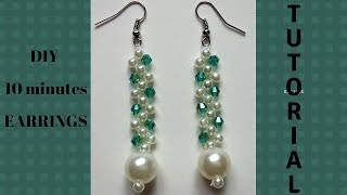 How to make earrings. DIY elegant earrings. Beaded earrings tutorial.