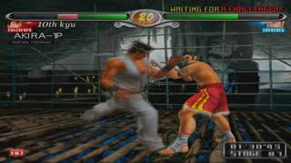 1080p 60fps - virtua fighter 4 evolution -  akira arcade hd gameplay -  ps2 hd pcsx2 2018