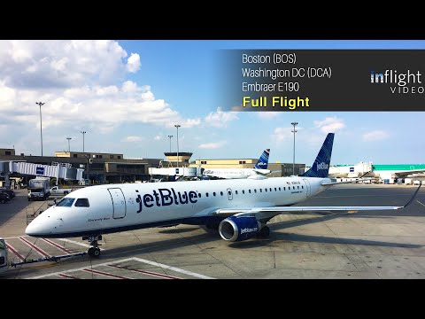 jetBlue Full Flight: Boston to Washington DC - Embraer E190