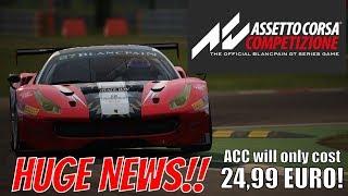 Assetto Corsa Competizione Early Access Pricing Information