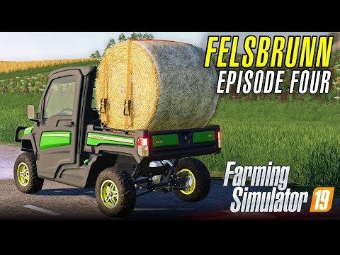 BALING ON FELSBRUNN   Let's Play Farming Simulator 19   Episode 4