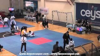 74kg Bayram Bozkurt vs Abdulkadir Coban (2013 Turkish Senyor TKD Championships)
