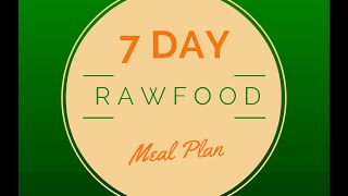 Raw Food Weight Loss Diet: Free 7-Day Meal Plan & Recipes
